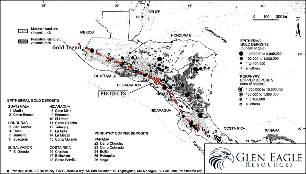 Figure 1 - Central America Gold Trend